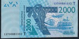 W.A.S.  TOGO  P816Tn 2000 FRANCS (20)13  UNC. - Togo