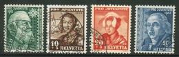 Suisse /Schweiz/Svizzera/Switzerland/  Pro-Juventute  // 1942 Série Complète Oblitérée - Usati