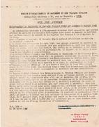 WW2 - 1942 - VICHY - ZONE LIBRE - Récupération Du MATÉRIEL ABANDONNé En JUIN 1940 - REPRISE De L'ACTIVITÉ - Documentos Históricos