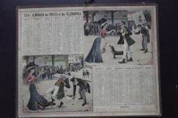 Almanach Postes Et Telegraphes 1910 Carte Cote D'or - Calendriers
