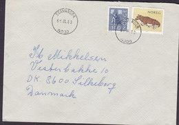 Norway Deluxe Cancel STAVANGER 1983 Cover Brief SILKEBORG Denmark Cow Kuh Vache - Briefe U. Dokumente