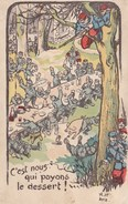 Illustrateur ?  A.HP WW1 Soldats Allemands Tombant Dans Une Embuscade Militaire Francais C Est Nous Qui Payons Le Desser - Altre Illustrazioni