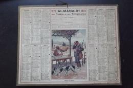 Almanach Postes Et Telegraphes 1929 Carte Yonne - Formato Grande : 1921-40