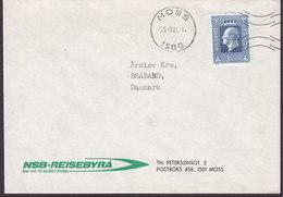 Norway NSB-REISEBYRÅ Deluxe Cancel MOSS 1982 Cover Brief BRABRAND Denmark King König Olav V. - Briefe U. Dokumente
