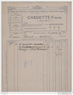 63 1532 LA GRANDE ROULLIERE PUY DOME 1923 Repration Construction Moulins A Ble GARDETTE FRERES Mecanicien Scierie - France