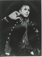 SORTIE DE MICHAEL JACKSON A NEW-YORK - PHOTO AFP 8.02.84 - Célébrités