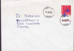 Norway Deluxe Cancel SEM S 1982 Cover Brief SILKEBORG Denmark Skiing World Championship - Briefe U. Dokumente