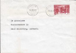 Norway Deluxe Cancel SANDVIKA 1982 Cover Brief SILKEBORG Denmark Europa CEPT Arrival To Norway Of King Haakon - Briefe U. Dokumente