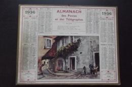 Almanach Postes Et Telegraphes 1936  Valreas Carte Yonne Oberthur - Formato Grande : 1921-40