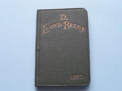 1920 - LE LLOYD BELGE Antwerpen Meirplaats ( Niet Gebruikt Stamp F. Van HOUDT ) Agenda 7 X 11 Cm./ Zie Foto's ) ! - Banque & Assurance