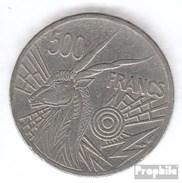 Zentralafrikanische Staaten KM-Nr. : 12 1977 D Sehr Schön Nickel 1977 500 Francs Antilope - Central African Republic