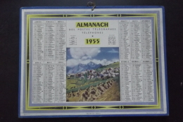 Almanach Postes Et Telegraphes 1955  Carte Yonne Oberthur - Kalenders