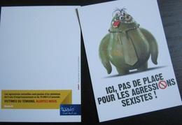 Carte Postale : Ici Pas De Place Pour Les Agressions Sexiste Ne Monte Pas à Bord, Tisséo, Toulouse - Cartoline