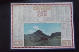 Almanach Postes Et Telegraphes 1949 Printemps En Savoie   Carte Yonne Oller - Calendarios