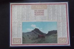 Almanach Postes Et Telegraphes 1949 Printemps En Savoie   Carte Yonne Oller - Kalenders