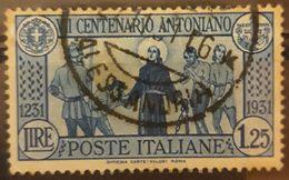 ITALIA 1931 The 700th Anniversary Of The Death Of St. Antonius. USADO - USED. - 1900-44 Victor Emmanuel III