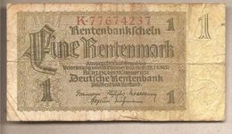 Germania - Banconota Circolata Da 1 Rentenmark P-173b.1 - 1937 - [ 4] 1933-1945 : Terzo  Reich