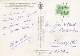 Sabine De Gandon Sur Carte Postale Annulation Trait Crayon Manuelle 1f Vert  Cp Obliteration - Variedades Y Curiosidades