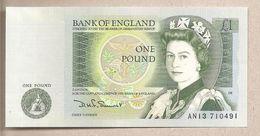 Inghilterra - Banconota Non Circolata FdS Da 1 Sterlina - 1982 - 1952-… : Elizabeth II
