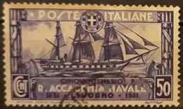 ITALIA 1931 The 50th Anniversary Of The Royal Navy Academy. USADO - USED. - 1900-44 Victor Emmanuel III
