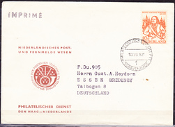 Niederlande Netherlands Pays-Bas - Admiral Michiel De Ruyter  (MiNr: 697) 1957 - Bedarfsbrief - Lettres & Documents
