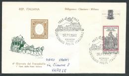 1962 ITALIA BUSTA FILAGRANO ANNULLO BRENNERO MILANO NO TIMBRO ARRIVO - KI18 - F.D.C.