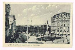 POLSKA - LWÓW  - Plac Mariacki Z Pomnikiem A. Mickiewicza - Ukraine