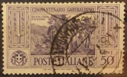 ITALIA 1932 The 50th Anniversary Of The Death Of Garibaldi. USADO - USED. - 1900-44 Victor Emmanuel III