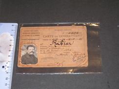 FRANCE-LOZERE- CARTE ANCIEN COMBATTANT De RABIER Jean, Né à Balsiège En 1884,dél. à Mendes En 1934 - 1914-18