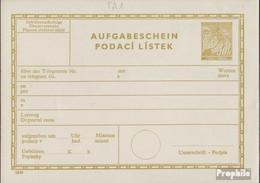 Böhmen Und Mähren TA1 Telegrammaufgabeschein Ungebraucht 1939 Lindenzweig - Böhmen Und Mähren