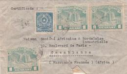 Paraguay Lettre Recommandée Asuncion 5/6/1952 Pour Casablanca Maroc  Passe Lisboa Portugal - Paraguay