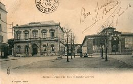 SCEAUX....CPA...justice De Paix Et Marche Couvert.....ecrite  1904 - Sceaux
