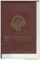 YUGOSLAVIA / CROATIA  ---  PASSPORT    --  1991  ---  YUGOSLAV. PASSPORT, ABER STEMPEL VON NEUE REPUBLIC OF CROATIA - Historical Documents