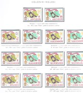 Set Of 42 Stamps Of English Colonies - World Cup England 1966. Football New Rimet Cup. - World Cup