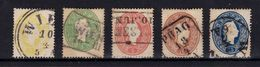 AUSTRIA / ÖSTERREICH - 1860 - Mi. 18 - 22 : SÉRIE COMPLÈTE De 5 TIMBRES / COMPLET SET Of 5 STAMPS (ab167) - 1850-1918 Empire