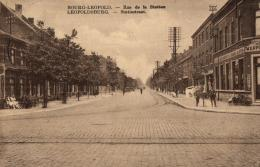BELGIQUE - LIMBOURG - BOURG-LEOPOLD - LEOPOLDSBOURG - Rue De La Station - Statiestraat. - Leopoldsburg