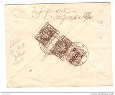 Poland/Polska 3 Stamps On Registered Cover C.Warszawa/Varsovie 1924 To Belgium Verviers PR2502 - Cartas