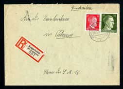 DR Einschreiben Versicherung 1944 Koppelstädt Nach Ostrowo L1083 - Deutschland