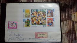 DDR Brief   Mit Mi.Nr . Klbg.2187-92 (Zeichnungen Junger Pioniere ) Reuden(9.12.74) Nach Sigmaringen - DDR