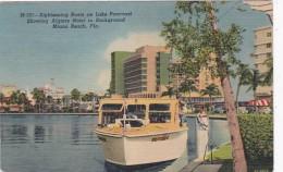 Florida Miami Beach Sightseeing Boats On Lake Pancoast 1942 Curt