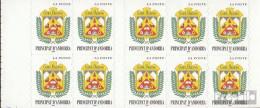 Andorra - Französische Post MH0-8 (kompl.Ausg.) Postfrisch 1998 Freimarken: Wappen - Carnets