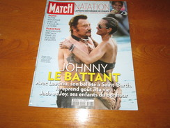 JOHNNY HALLIDAY ** PARIS MATCH Magazine ** Vintage AUGUST 2010 - People