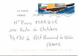 Enveloppe Oblitération LA POSTE 25759A 17/04/2015 - Postmark Collection (Covers)