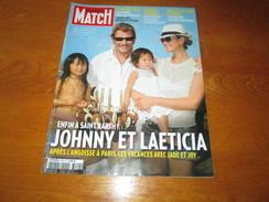 JOHNNY HALLIDAY ** PARIS MATCH Magazine ** Vintage AUGUST 2009 - People