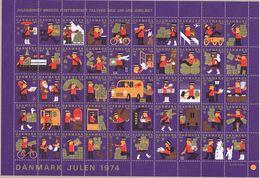 Denmark; Christmas Seals.  Full Sheet 1974; MNH ** - Full Sheets & Multiples