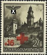 Generalgouvernement 53 Mit Falz 1940 Rotes Kreuz - Besetzungen 1938-45