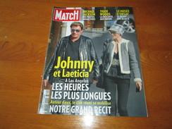 JOHNNY HALLIDAY ** PARIS MATCH Magazine ** Vintage DECEMBER 2009 - People