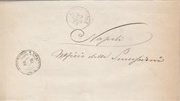 Galatina. 1879  Annullo Grande Cerchio GALATINA + UFFICIO REGISTRO + Testo, Su Franghigia. - Marcofilie