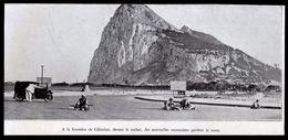 1936  --  A LA FRONTIERE DE GIBRALTAR  SENTINELLES MAROCAINES GARDANT LA ROUTE   3M987 - Vieux Papiers
