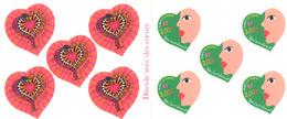 Año 2000 Nº 3297/8 Corazon San Valentin - Libretas